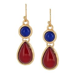 Teardrop Stone Drop Earrings [EOE3150MGRD] Wholesale24x7.com - Fashion Scarves and Accessories Wholesale, One Stop Wholesale Shopping for Scarves, Jewelry and Fashion Accessories!
