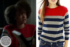 Ravenswood: Season 1 Episode 5 Remy's Striped Sweater with Pink Lace