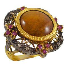 ES205 -Ασημένιο επίχρυσο δαχτυλίδι Vintage Detail, Antiques, Shopping, Vintage, Collection, Antiquities, Antique