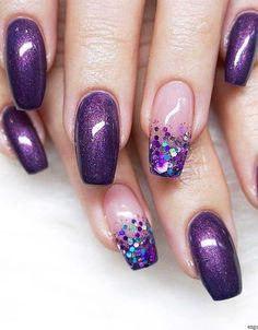 18 Stunning Purple Nail Arts & Designs in 2019 18 Stunning Purpl. 18 Stunning Purple Nail Arts & Designs in 2019 18 Stunning Purple Nail Arts & Designs in 2019 Nail Art Violet, Purple Nail Art, Purple Nail Designs, Acrylic Nail Designs, Nail Art Designs, Nails Design, Fingernail Designs, Beautiful Nail Art, Gorgeous Nails