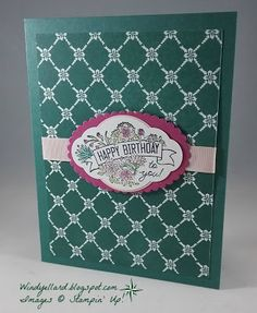 Windy's Wonderful Creations: Happy Birthday In Tranquil Tide, Stampin' Up!, Label Me Pretty, Pretty Label punch, Fresh Florals DSP Stampin Up, Sauf, Pretty Cards, Happy Birthday Cards, Occasion, Pretty Little, I Card, Punch, Florals