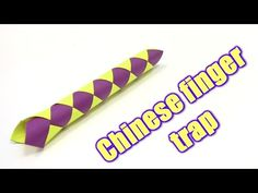 How to Make Chinese finger trap - Yakomoga Origami tutorial - YouTube