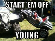 Start 'em young! #jeepLife