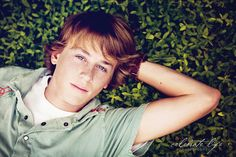 senior boy laying down - this would really help with variety for guys!