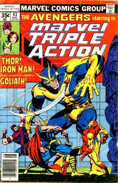 #MARVEL comics group [] #AVENGERS starring in [] marvel TRIPLE ACTION