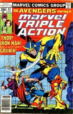 #MARVEL comics group [] #AVENGERS starring in [] marvel TRIPLE ACTION