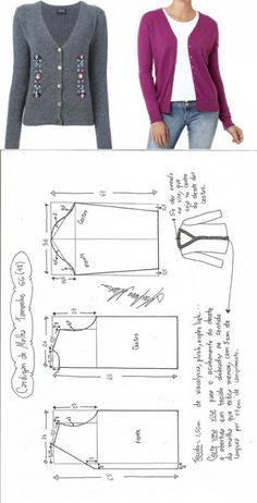 Dress Sewing Patterns, Sewing Patterns Free, Clothing Patterns, Blazer Pattern, Jacket Pattern, Cardigan Pattern, Free Clothes, Sewing Clothes, Make Your Own Clothes