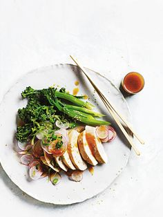 miso-poached chicken salad