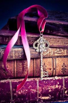 Old books patina + antique key