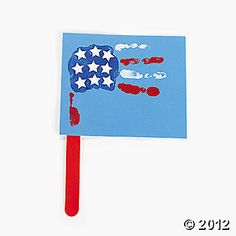 Handprint Crafts: American Flag