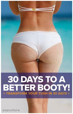 If you like a good 30-day fitness challenge, then you'll love our 30-Day Squat Challenge! 4 bootylicious moves for 30 days for a rounder, perkier firmer booty in 30 days! Start now! Popculture.com #bootychallenge #30daychallenge #bootyworkout #buttworkout #athomeworkout