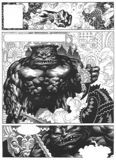 Enrique Alcatena (born 26 February is an Argentine comic book artist. He is known as Quique Alcatena in his native country and Latin America. Comic Book Artists, Comic Books, Comic Book Layout, Drawing Studies, Sword And Sorcery, Comic Page, Panel Art, Manga Illustration, American Comics