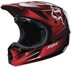 2013 Fox Racing V4 FUTURE Carbon Helmet Red - On Sale NOW!!! Get yours at www.Motocross-atv.com