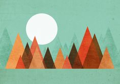 From the edge of the mountains Art Print
