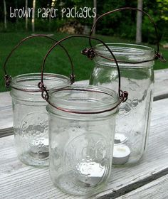 how to make the wire holder for mason jar lights