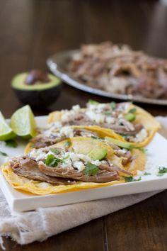 Juicy pork carnitas tacos