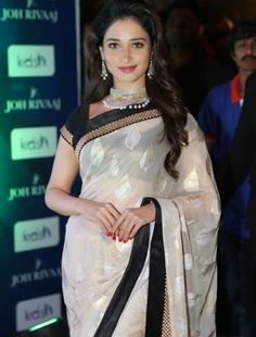 Tamannah Bhatia white saree
