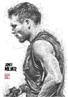 Black Pen Drawing, James Milner, This Is Anfield, You'll Never Walk Alone, Liverpool Football Club, Sports, England, Celebs, Wallpaper