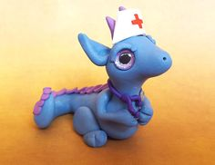 Your place to buy and sell all things handmade Polymer Clay Dragon, Polymer Clay Animals, Small Figurines, Cute Dragons, Smurfs, Dinosaur Stuffed Animal, Sculpture, Polymers, Unique Jewelry