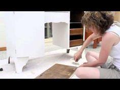 Dressing table restoration - Shabby Chic Furniture Makeover