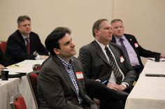 A captive audience is the norm at ICIT Fellow meeting.