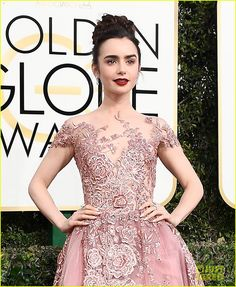 Lily Collins Stuns for First Golden Globes as a Nominee!