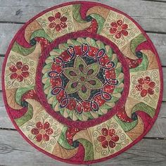 her Mandala quilts, Jane Dream it then create it.