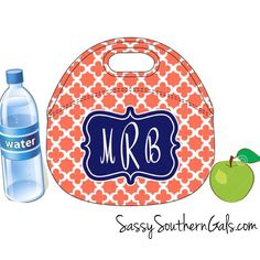 Monogrammed Lunchbox, Monogrammed Lunch Bags Insulated Neoprene, Monogrammed Lunch Bag, Personalized Lunch Tote, Design Your Own by SassySouthernGals on Etsy https://www.etsy.com/listing/244272883/monogrammed-lunchbox-monogrammed-lunch