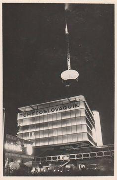 Československý pavilon v Paříži (Czechoslovak Pavilion in Paris, (Arch… International Style, World's Fair, Eastern Europe, Czech Republic, Arches, Modern Architecture, History, Modernism, Prague