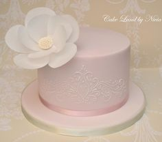 Wafer+paper+flower+cake+-+Cake+by+Nivia