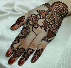 Finely Chosen Best Mehandi(Henna) Designs Of The Year Stylish Mehndi Designs, Mehndi Designs For Girls, Mehndi Design Pictures, Wedding Mehndi Designs, Mehndi Designs For Fingers, Henna Designs Easy, Beautiful Henna Designs, Beautiful Mehndi, Best Mehndi Designs