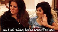 Haha, I love the Kardashians.
