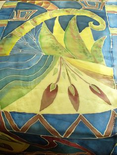 батик палантин `Над чертогами Елефантины`. батик в этническом стиле хорошо подойдет к гладкому платью или костюму. Тонкий натуральный шелк с благородным блеском прекрасно драпируется, очень нежный на ощупь. Краски профессионально закреплены.