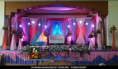 Vinoth Kumar, Prasanna Devi - Wedding Reception decoration done at JVS Mandapam, Tindivanam on 8th May 2015 - http://goo.gl/tnwePZ Address: #259, GGP Complex, Ist floor,  Airport Road, Lawspet, Pondicherry  Mobile: 8190072333, 8190072111 Website: www.sigaram.co.in Email ID: info@sigaram.co.in