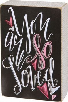 Let this freestanding wood box sign shares your sentiment with your loved ones. It has chalkboard writing in white and pink and unique shaped heart accents. A durable wooden box design you can cherish for years to come. Chalkboard Art Quotes, Chalkboard Writing, Chalkboard Print, Chalkboard Designs, Chalkboard Ideas, Blackboard Art, Kitchen Chalkboard, Chalkboard Drawings, Chalk It Up