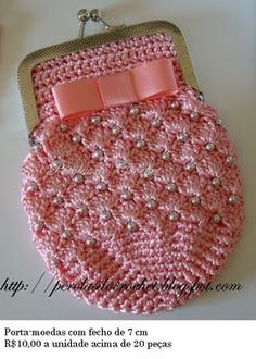* Pérolas do Crochet: Porta-moedas