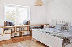 Aranżacja białej sypialni