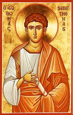 Iconograms features Orthodox icons, lives of Saints, hymns of the Eastern Orthodox Church and Ecards for almost any occasion! Religious Images, Religious Icons, Religious Art, Thomas The Apostle, St Thomas, Catholic Art, Catholic Saints, Byzantine Icons, Byzantine Art