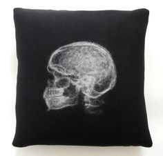 Felted Black and White X-Ray Skull by DKS Studio