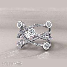 3D Jewelry Design: Fashion Ring, Engagement, Organic style [1709-114408] » Jewelrythis