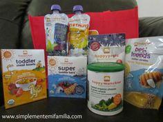 Simplemente mi Familia: Review / Reseña: Happy Family Comida Organica para bebe / Organic Baby food mas un Giveaway!!!