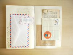 Make your own book like the Jolly Postman! ps - it just dawned on my how serious my mail obsession was even as a child.