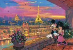 Mickie & Minnie  A Paris Sunset