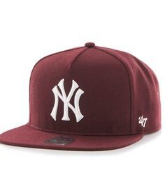 Maroon Yankees Snapback