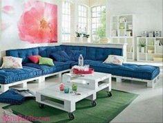 Recycler palette en bois en canapé salon