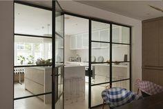 Studio Indigo - Projects - House In Kensington 2 Architects London, Aluminium Doors, Indigo, Studio, French Doors, Decoration, Home And Living, New Homes, Interior Design