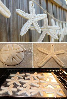 DIY Starfish Salt Dough Garland | DIY Beach Wedding Ideas on a Budget | DIY Beach Wedding Decorations