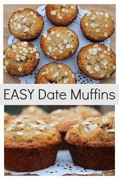 Simple and easy date muffins recipe that the entire family are going to love. You need recipes like this in your life for those easy after school snacks, which you can whip up in just a few minutes. Use the special ingredients to make them healthy too! Muffin Recipes, Cake Recipes, Cupcake Cookies, Cupcakes, Date Muffins, Easy Date, Nutella Fudge, After School Snacks, Good Dates