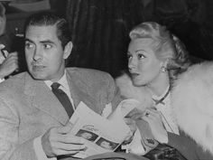 Lana Turner with her self-proclaimed one true love, Tyrone Power.