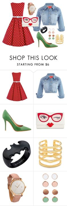 going to the cinema to see batman vs superman by alejandra-bessouet on Polyvore featuring moda, Salvatore Ferragamo, Kate Spade, MVMT, Stella & Dot and H&M